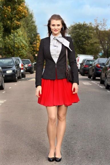 Skater skirt + smart blazer