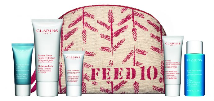 Clarins Feed10 pouch content
