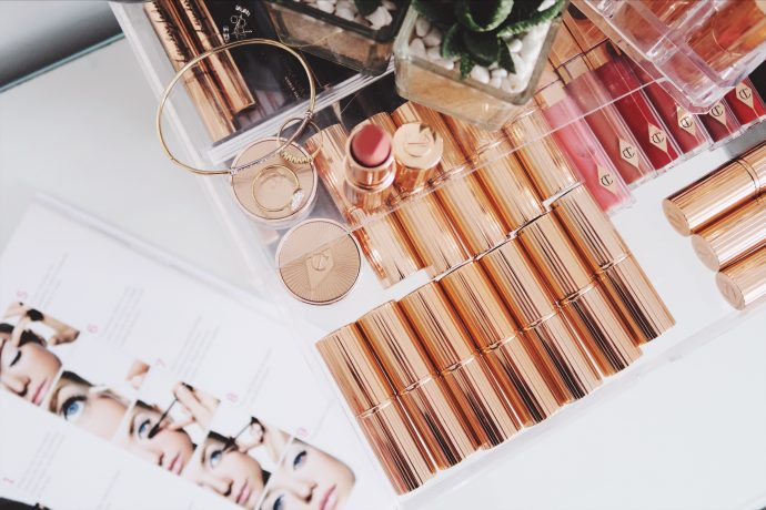 Lipstick Collection from Charlotte Tilbury #socialbeautify #30plusblogs #flatlay