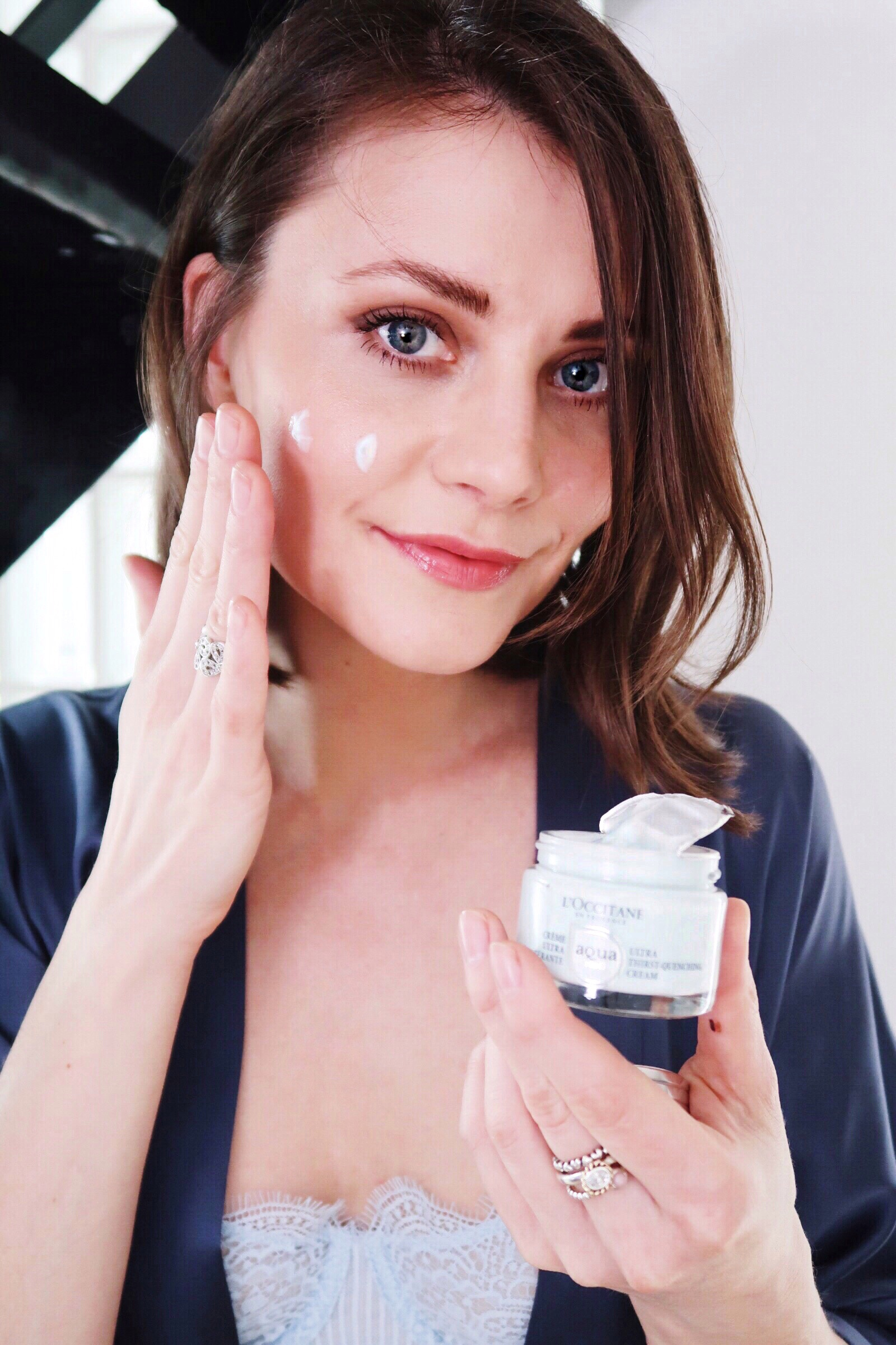 Ewa Social Beautify using L'Occitane. New, best hydrating skin care products.