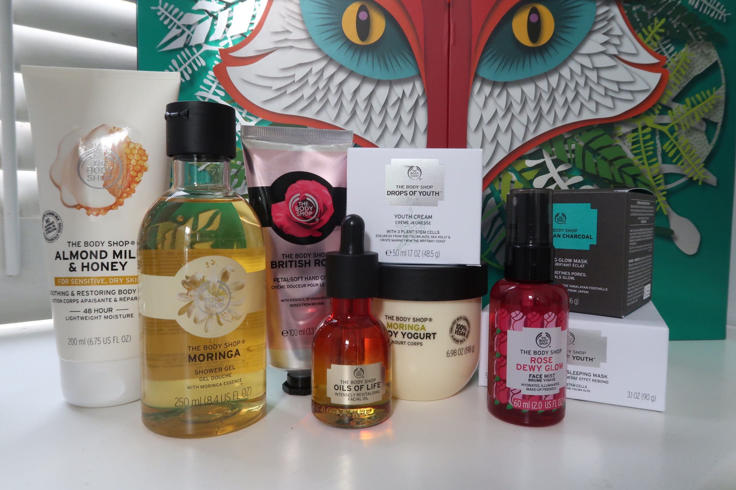 Full size products in The Body Shop Advent Calendar.