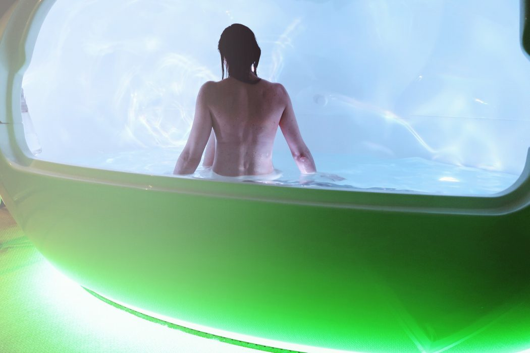 Floatation Therapy - woman in a float tank