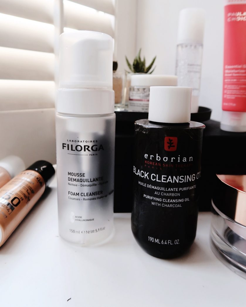 Post-workout skincare routine cleansing product for double cleanse.