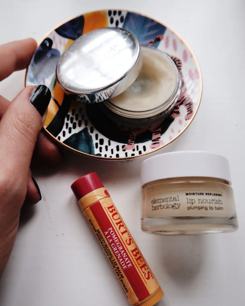 Vanities, a selection of lip balms.
