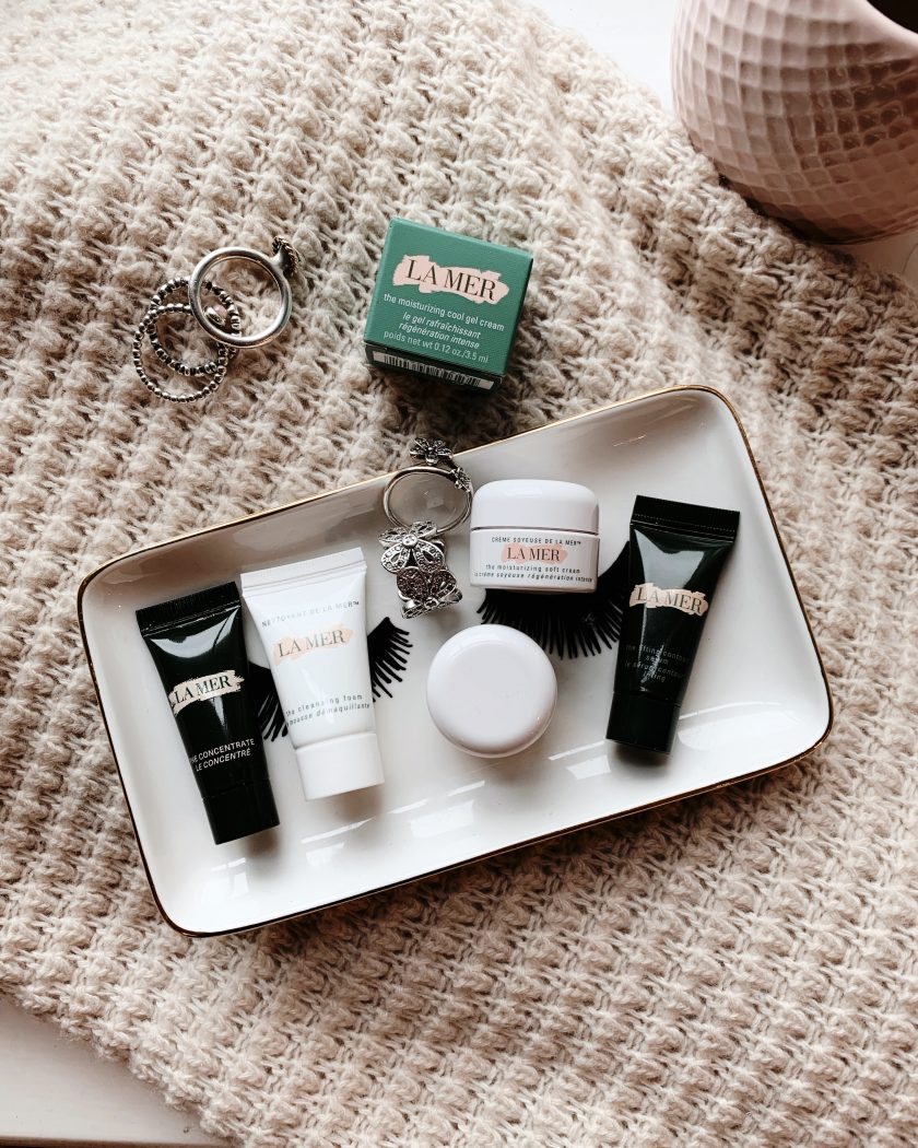 A selection of La Mer mini products, perfect for travel.