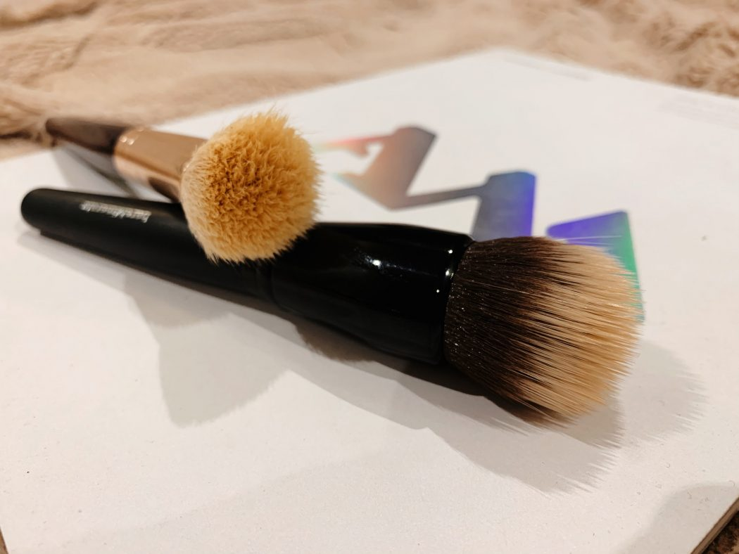 Two foundation brushes perfect for blending the base to achieve a flawless look