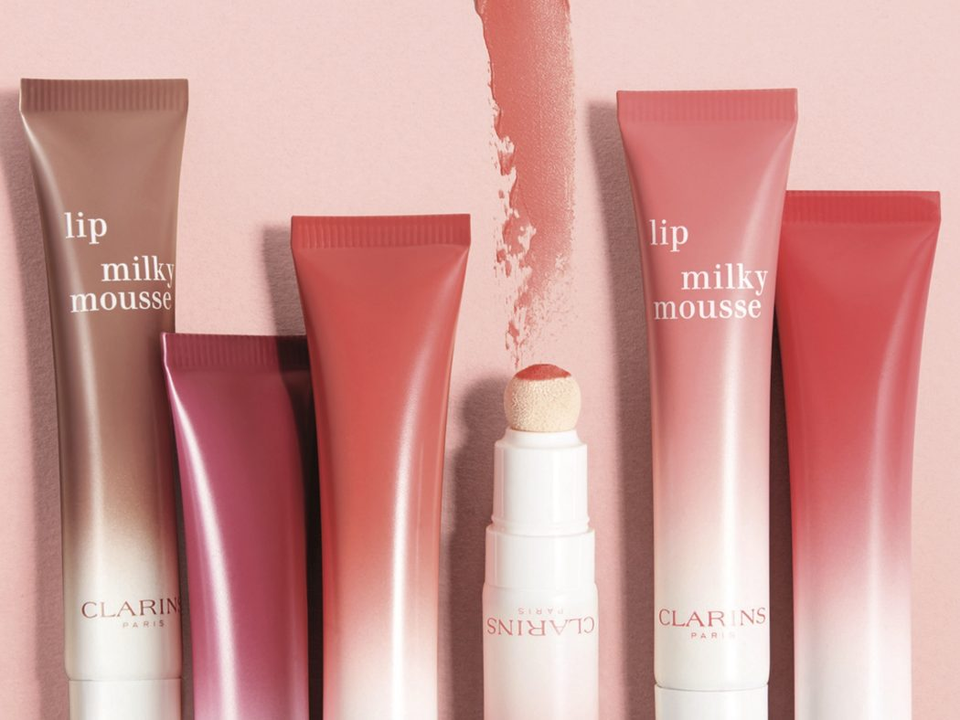Clarins milkshake makeup collection  selection of lip balms from Clarins.