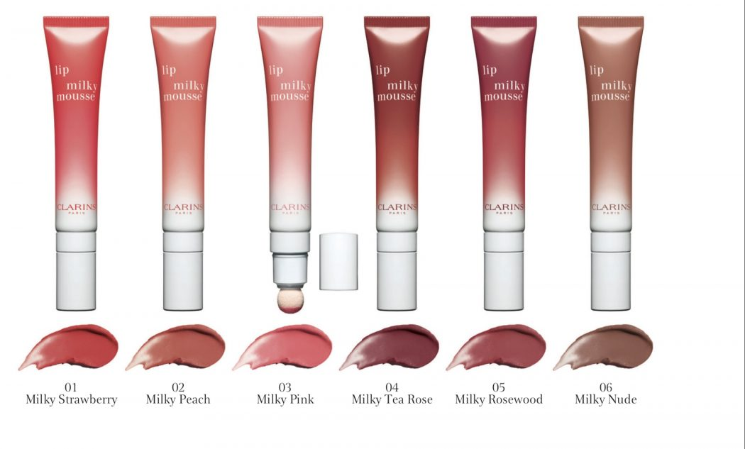 Clarins milkshake makeup collection All the shades lined up